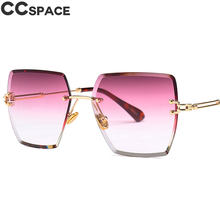 6231716c3 الفاخرة بدون شفة مربع النظارات الشمسية الرجال النساء ظلال التدرج اللون  الأحمر الأرجواني 46421 خمر العلامة التجارية نظارات أزياء .