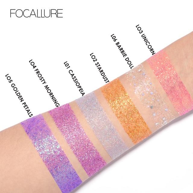FOCALLURE Professional single Eyeshadow Glitter powder Colorful pigments waterproof women beauty shiny eye shadow eyes 3