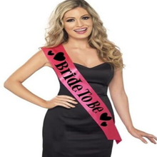 1 Pcs Set Lovely Bachelorette Party Accessories Hen Night Stain Sashes Bride To