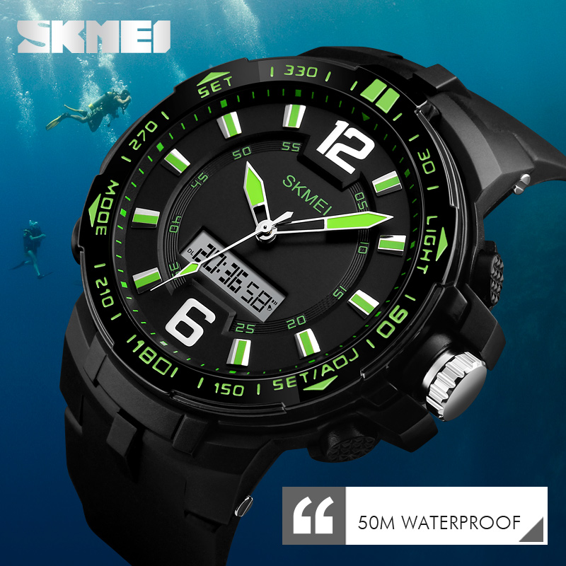 Skmei Fashion Mens Sports Watches Top Brand Luxury Analog Quartz Watch Clock Waterproof Army Military Watch Relogio Masculino