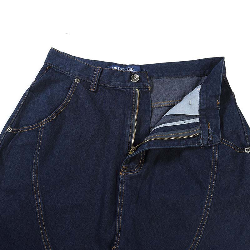 Pantalones Calidad Hombres Azul azul Tamaño Vaqueros Algodón Hip Alta Hop Plus De Sueltos 46 Marca 30 Negro Jeans Harem Negro wq1IEWK5