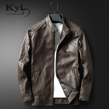 Hot Sales Brand New Mens Faux Leather Jackets High Quality Pu Leather Black Brown 3XL Spring Autumn Men Leather Jaket and Coat(China)