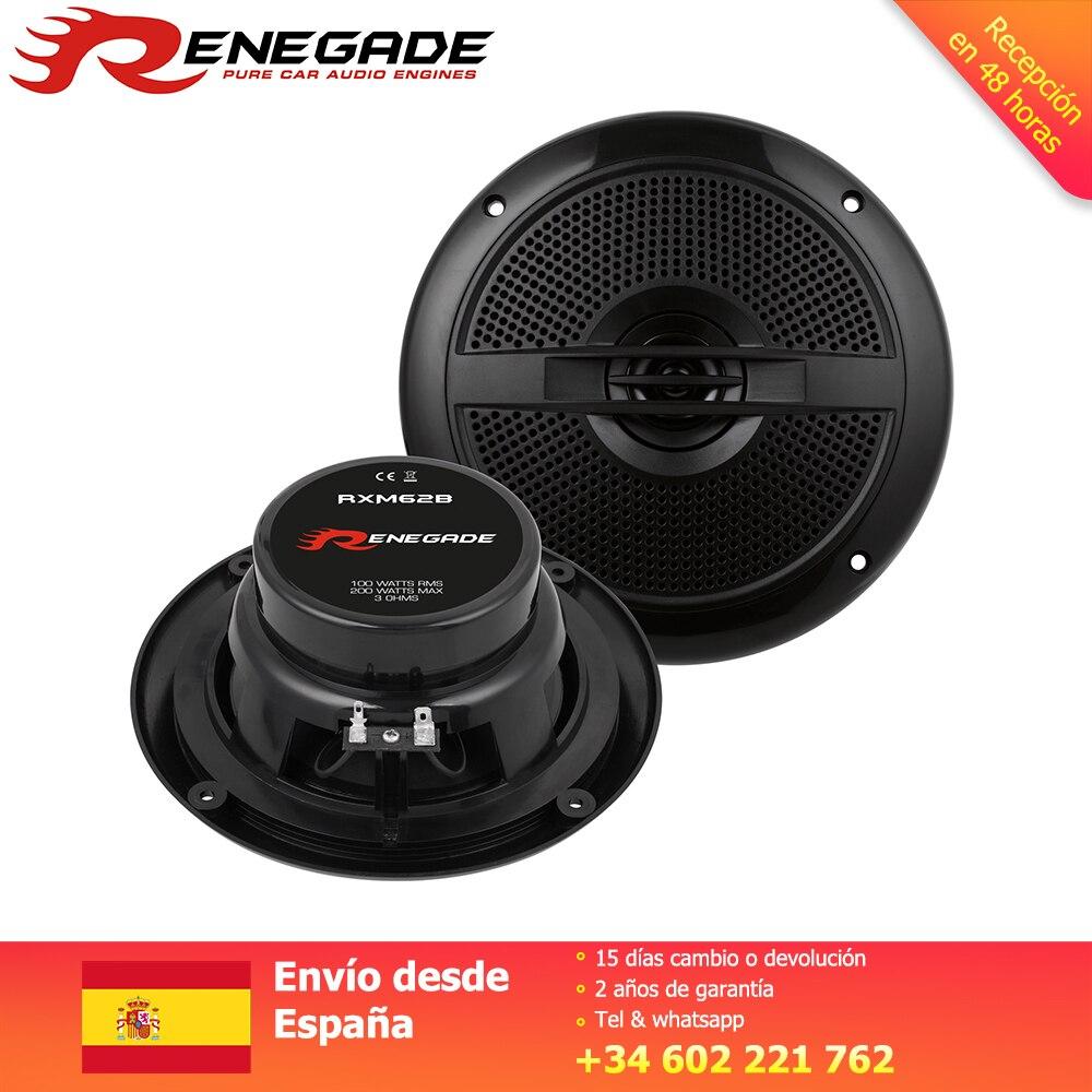 RENEGADE Altavoz système Coaxial voiture 16.5 cm haut-parleurs Coaxial haut-parleur Grillset 30mm Neodym Mylar Tweeter Polycone 150 W