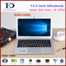 13.3 »core i5-5200U ноутбук, 8 ГБ Оперативная память + 256 ГБ SSD + 500 HDD, металлический корпус, 1920*1080, WI-FI, Bluetooth 2.2 ГГц Win10 F200