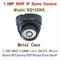 Todos Metal 960 P Day & Night Vision IR Dome CCTV Ao Ar Livre segurança Cam Vandalproof 3.6mm Lente Grande Angular HD Mini Dome IP câmera