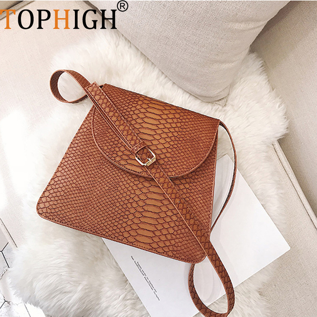 280745ee6445 US $19.99 30% OFF|TOPHIGH new snake pattern small women's messenger bag  fashion color artificial leather women's shoulder bag female crossbody  bag-in ...