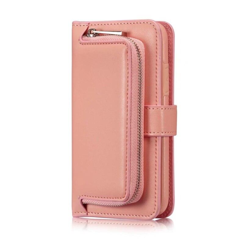Мода Сумочка чехол для iPhone X Роскошный кошелек чехол телефона 2 в 1 съемный чехол для iPhone X с Многофункциональный отделения для карточек