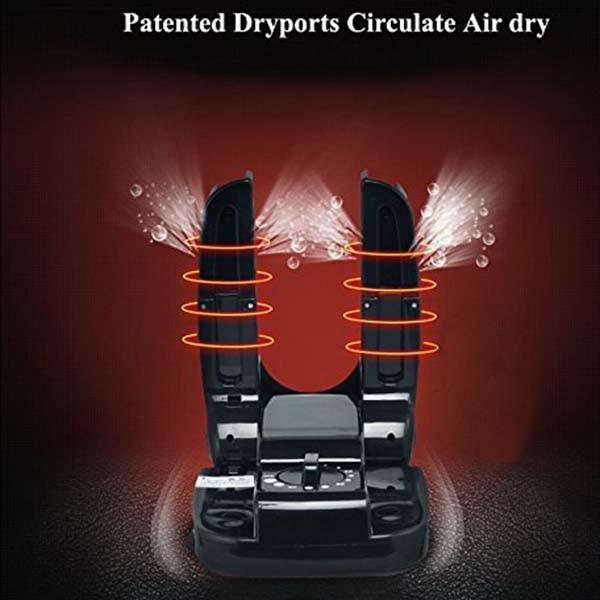 Electric Shoe Boot Dryer Warmer, Portable Folding Dryer Adjustable Rack Boots Shoes Socks Gloves Helmet Gear (110V US Plug)