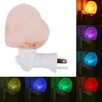 HGhomeart Salt Lamp With Heart Shaped Wall Lamp Decoration Night Light For Home Bedrooms Office
