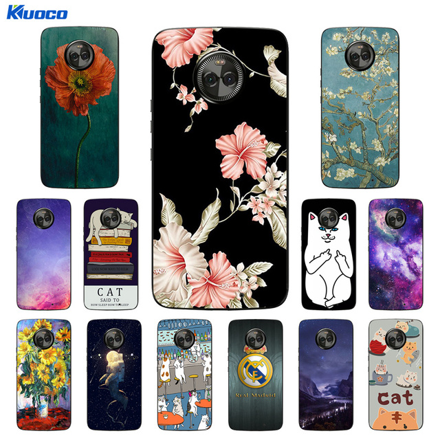 premium selection dc054 91eff US $1.19 43% OFF|Soft Silicone for Motorola Moto X4 Phone Case Cat  Landscape Printing Transparent Back for Motorola 4th gen Cover for Moto  X4-in ...