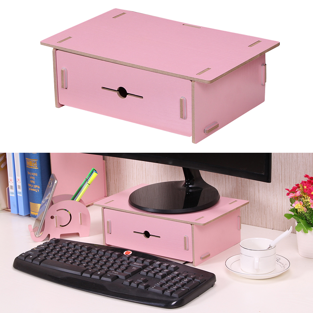 Aliexpresscom  Buy Small Desk Organizer Organizador Monitor Riser Stand Organizer Wood with