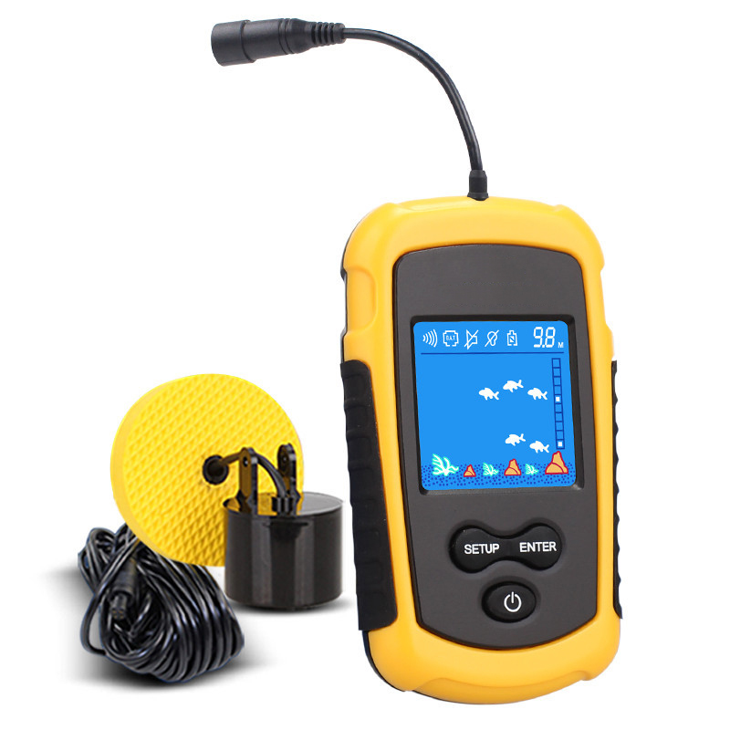 New Arrival Wired 100M Portable Sonar LCD Fish Finders Fishing lure Echo Sounder Fishing Finder-in Fish Finders from Sports & Entertainment