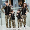 Family Matching Clothes Sets family look two Piece Set Gold velvet Sport suits mother and daughter clothes mother son outfits