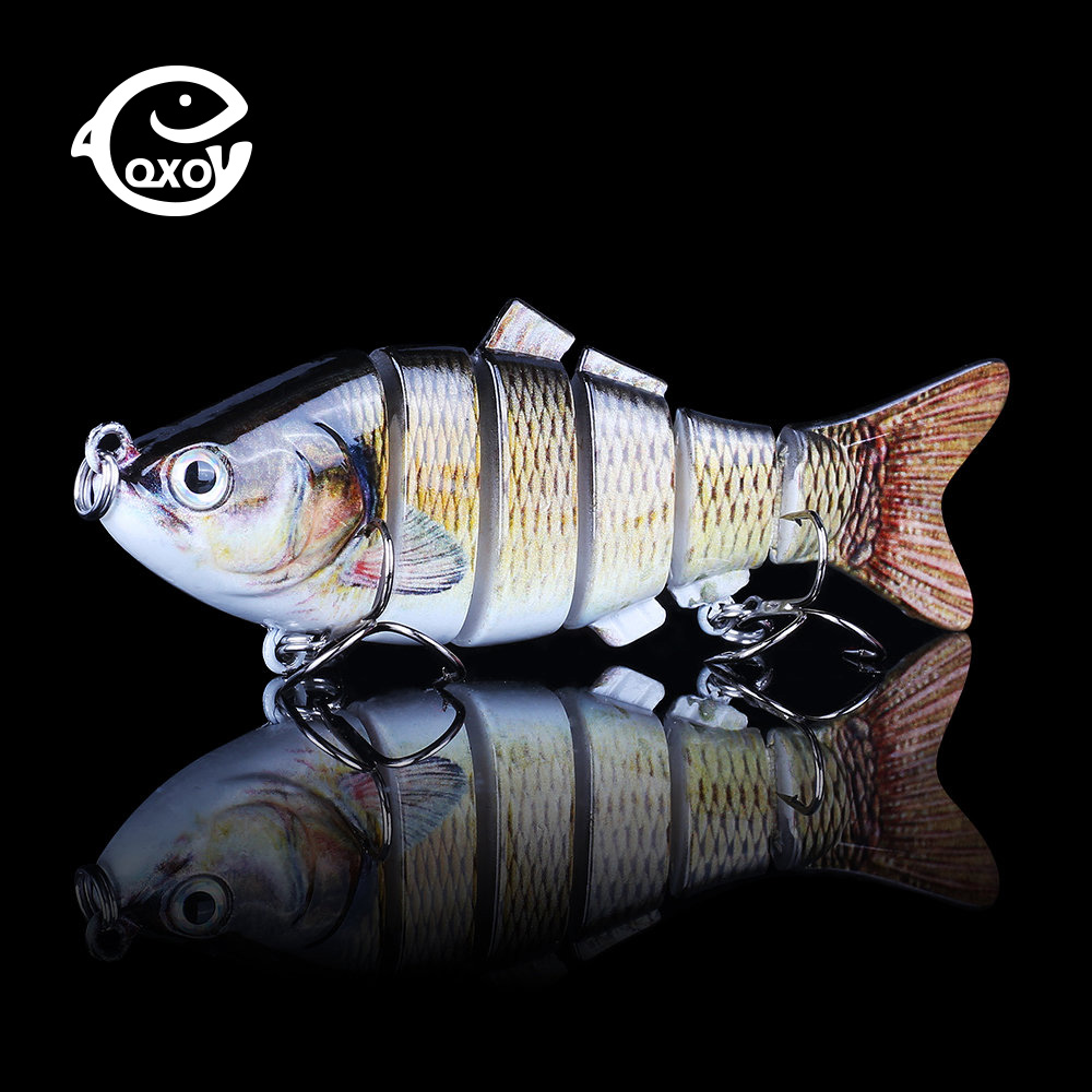QXO Metal Squid Jig Wobbler Multi-section Vib Shad Ima Winter Pike Lure Jigging Jerk Swing Duck Minnow Jigs Goods For Fishing
