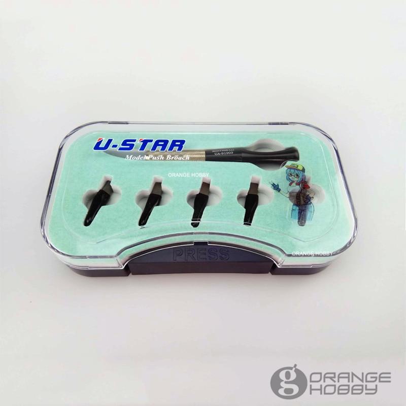 OHS Ustar 91903 modelo Push Broach para corte de línea con 5 cabezales de corte Hobby herramientas de corte accesorio-in Kits de construcción de maquetas from Juguetes y pasatiempos    2
