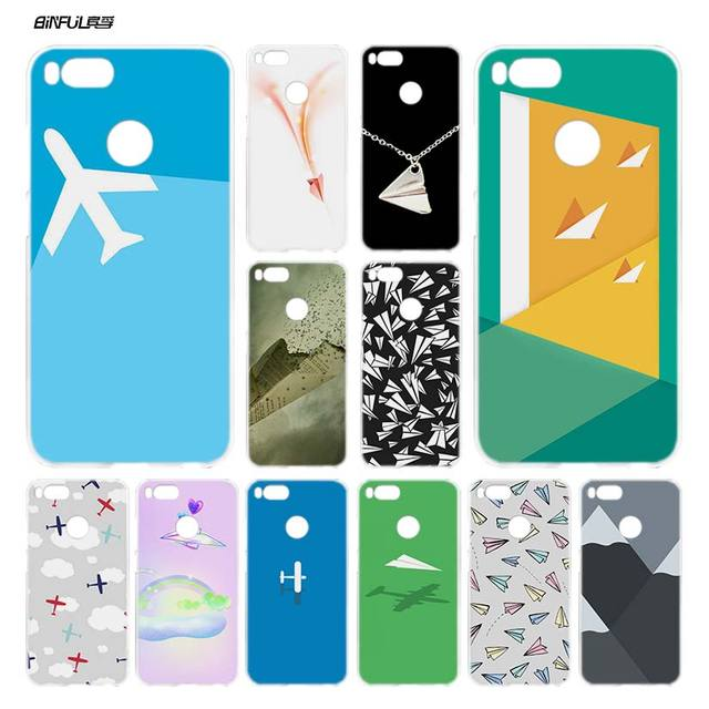 low priced 52df9 8bfaf US $1.88 44% OFF BiNFUL Minimal Flying Paper Plane Clear Cover Case Coque  for Xiaomi Redmi Mi A1 5X Note 2 3 4X 4 5 4A 5A Plus-in Half-wrapped Case  ...