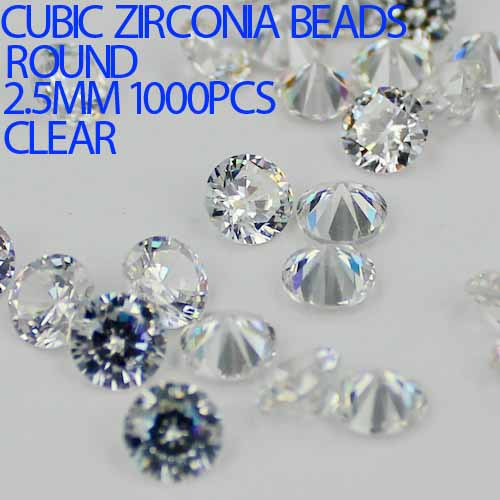 1000pcs 1-3.5mm Crystal Clear Color Brilliant Cuts Round Cubic Zirconia Beads Stone Supplies For Jewelry DIY Nail Art Decoration
