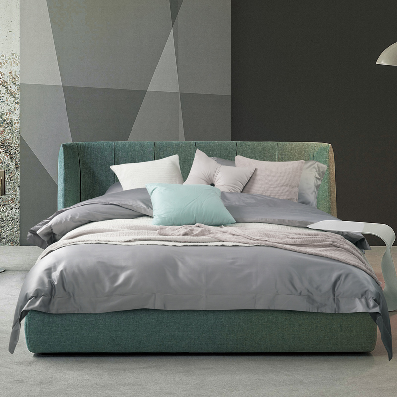 New 100S Cotton stain Bedding Set grey gold Solid color Duvet Cover Set King Queen Size Luxurious Bedding Sheets Set