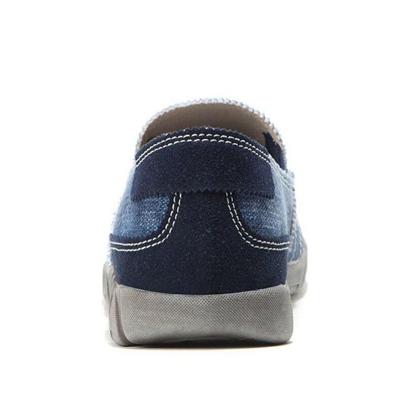 Denim Mocassins Paresseux Chaussures Classiques Casual Hommes Taille bleu 48 Noir Rond Lebaluka Simple Patchwork Appartements 38 Royal Bout xPw07qpFX