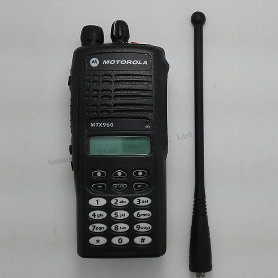 16 channel motorola mtx960 handheld walkie talkie with. Black Bedroom Furniture Sets. Home Design Ideas
