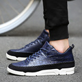 ONLYWONG British Style Light weight lace-up men shoes Spring autumn cozy casual shoes black blue white ankle male shoes