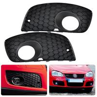 New Pair Black Front Left Right Bumper Fog Light Lamp Grill Grille 1K0853666P 1K0853665S For VW