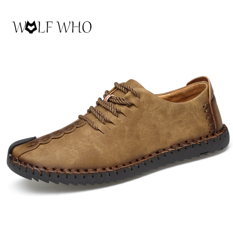 WolfWho Men Shoes Casual Autumn Fashion Shoes Men Designer Shoes Casual Breathable Big Size Male Footwear Shoes Comfort Loafers prelesty big size spring autumn breathable men luxury brand driving shoes handmade leather loafers casual slip on footwear male