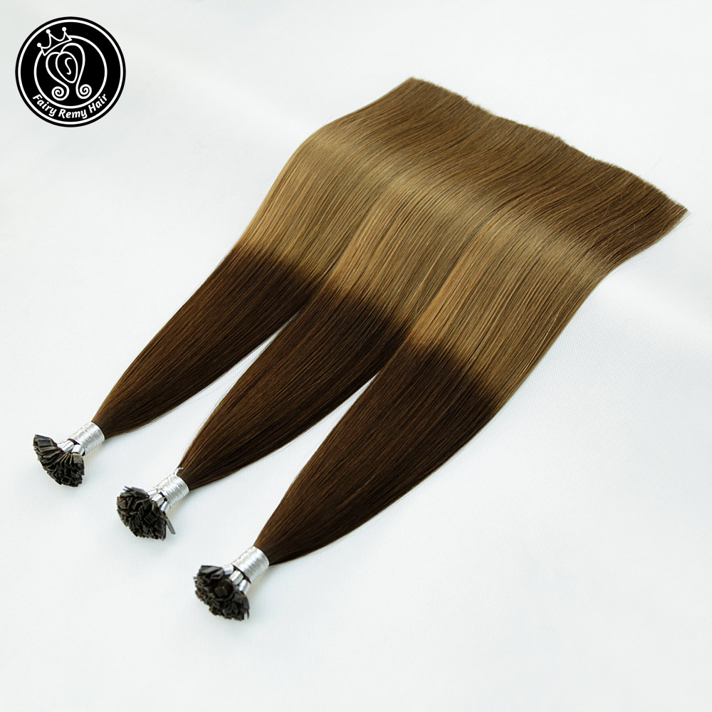 Fairy Remy Hair 0.8g/s Flat Tip Human Hair Extension Double Drawn 18 Inch Real Remy Keratin Pre Bonded European Hair 80g/