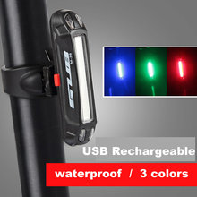 цена на MTB Bike Light Road Bicycle Seatpost LEDLight Safety Warning LED USB Rechargeable Front Rear Lamp Bicycle Tail Light 100 lumens