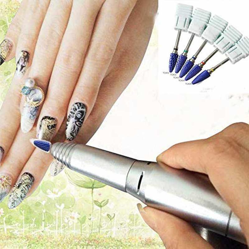 2.35mm Bullet paznokcie ceramiczne wiertła obróć Burr frez bity do Manicure narzędzia do pedicure elektryczne paznokci wiertła akcesoria