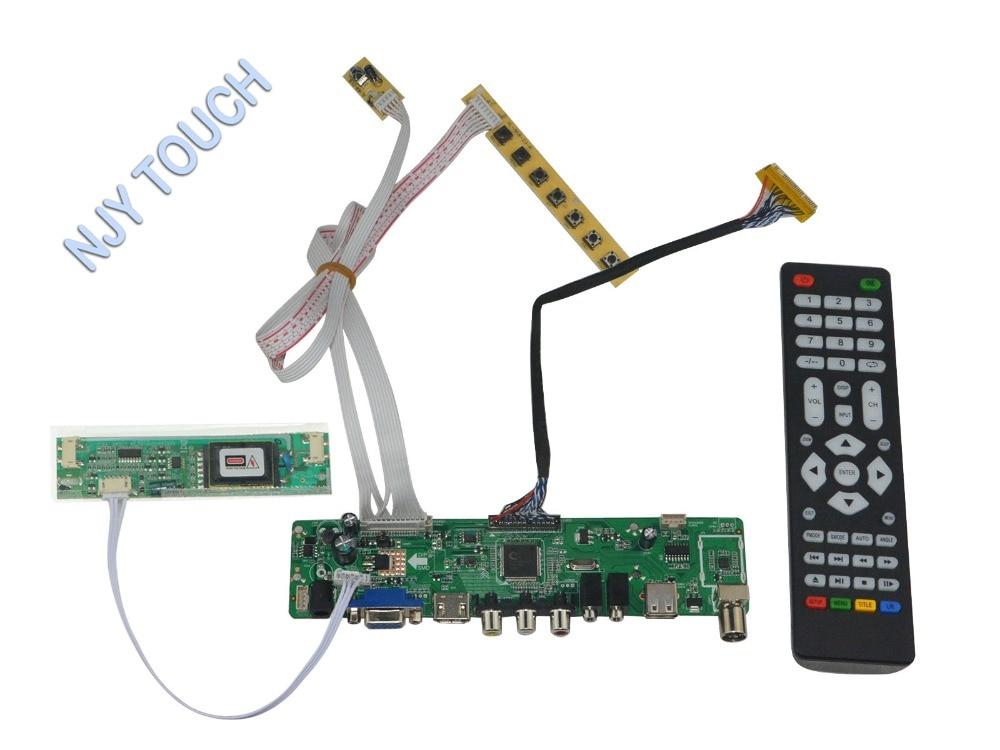 LA.MV56U.A New Universal HDMI USB AV VGA ATV PC LCD Controller Board for 15inch 1024x768 LM150X07-B4 2CCFL LVDS Monitor Kit m nt68676 2a universal hdmi vga dvi audio lcd controller board for 17inch 1400x900 ccfl lvds monitor kit diy for raspberry pi