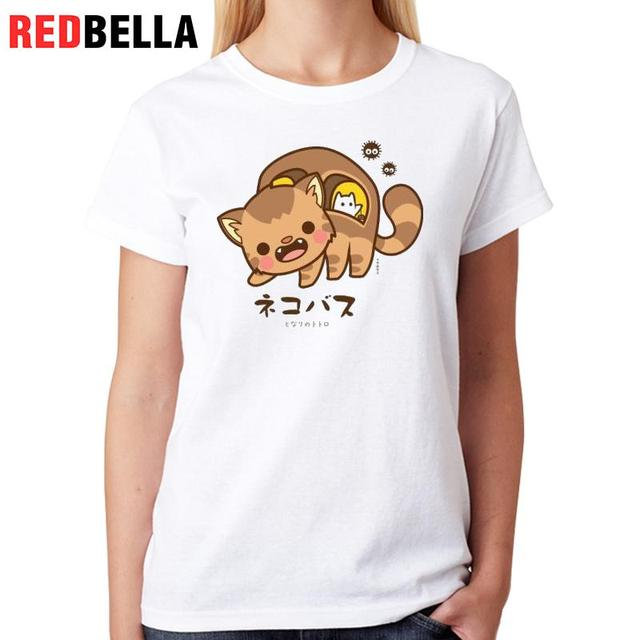 redbella japanese women shirt design kawaii cartoon cute lovely cats