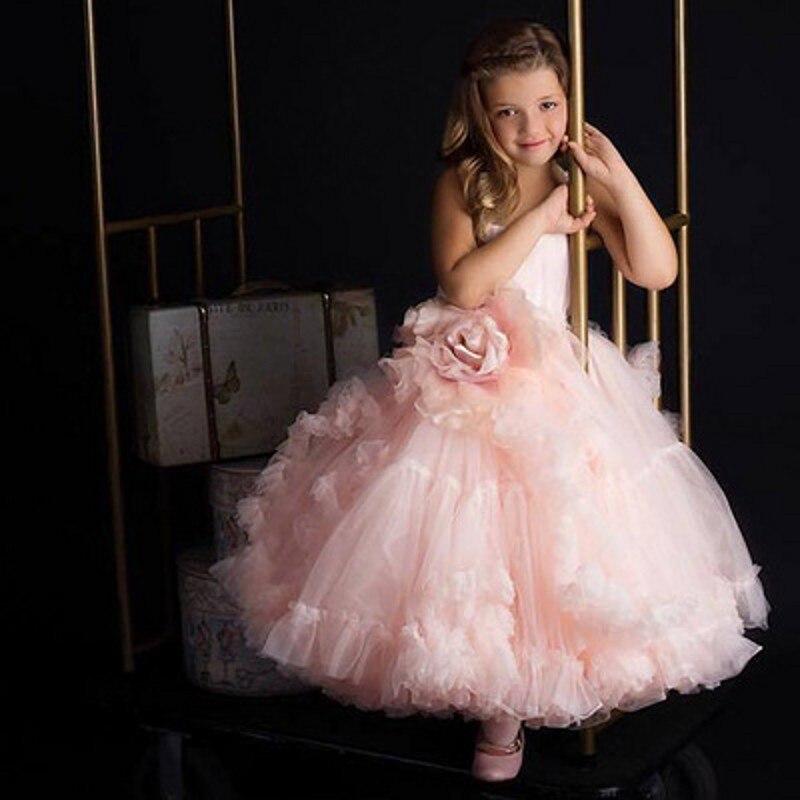 Kids Dresses For Girls Children Carnival Costume Princess Dress Flower Girls Wedding Dress Girls Evening Party