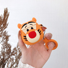 For AirPods Case Cute Cartoon Tiger Animal Soft Silicone Wireless Bluetooth Earphone Cases Apple Airpods 2 Cover Funda