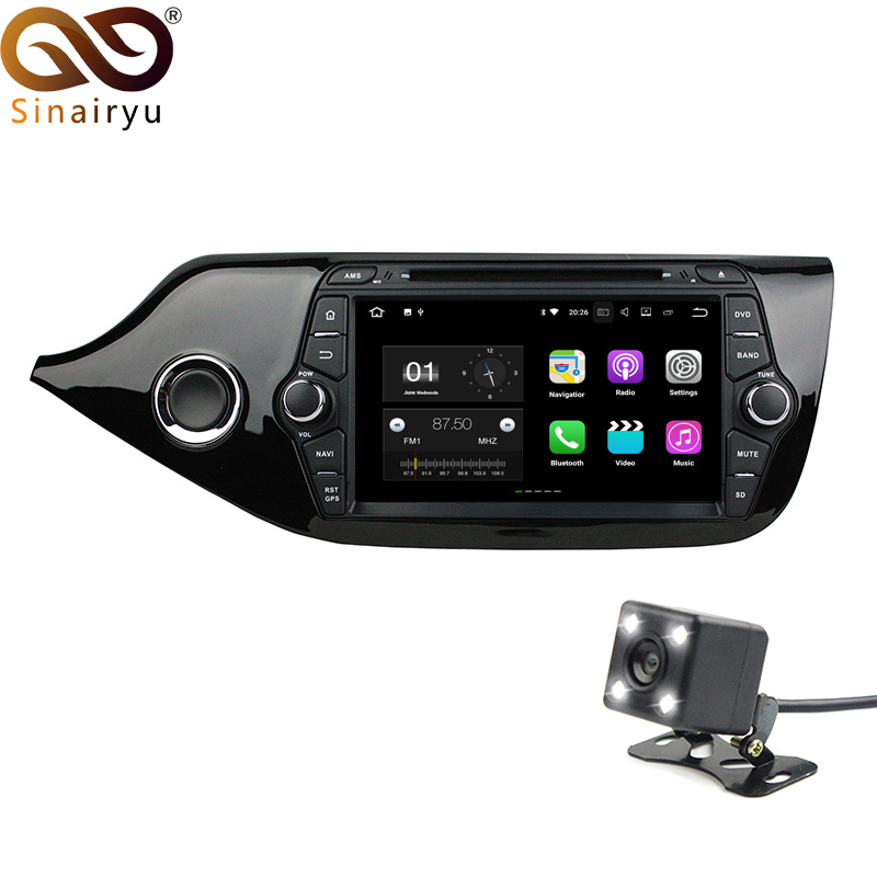 Sinairyu 2G RAM Android 7.1 Car DVD for Kia CEED 2014 Octa Core 16G ROM GPS Navigation Radio Player Head Unit