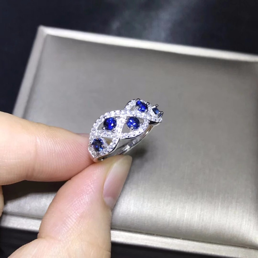 2018 Anillos Qi Xuan_Blue Stone Luxury Rings_Fashion Ring_S925 Solid Silver Fashion Blue Rings_Manufacturer Directly Sales 2018 Anillos Qi Xuan_Blue Stone Luxury Rings_Fashion Ring_S925 Solid Silver Fashion Blue Rings_Manufacturer Directly Sales