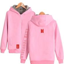 Bangtan7 Love Yourself Warm Velvet Hoodie Jacket (5 Colors)