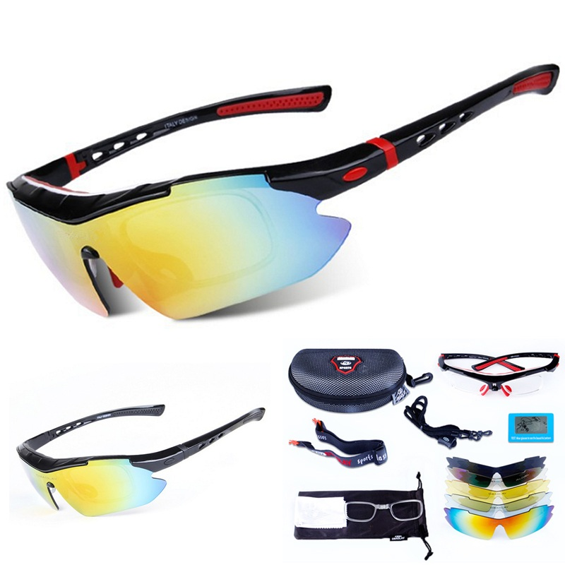 cf63db0fa Desporto Óculos Polarizados Óculos de Ciclismo profissional para Desporto  Ao Ar Livre Óculos À Prova de Vento Caminhadas Óculos