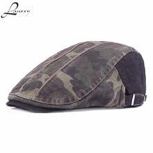 Lanxxy 2018 nuevos hombres boina sombreros del algodón moda camuflaje  imprimir hat boina gorra plana( 6c3a723d8b3