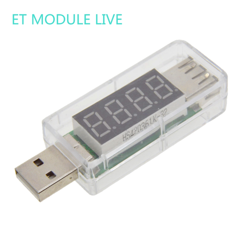 Digital USB Mobile Power charging current voltage Tester Meter Mini USB charger doctor voltmeter ammeter color:transparen new 3 in 1 digital led car voltmeter thermometer auto car usb charger 12v 24v temperature meter voltmeter