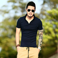 2017 New Spring Summer style brand polo men Fashion slim tight Casual Men Short sleeve solid  tenis camisa masculina Shirts