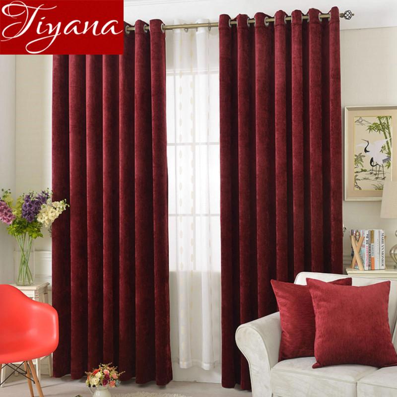 chenille color slido ventana cortinas europea moderna sala de estar cortinas cortinas y telas de