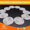 (10 unids/lote) FM1108 (M1 S50) RFID de 13,56 Mhz etiqueta pegatinas NFC Smart 3 M PVC moneda tarjetas