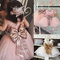 Princesa Meninas Vestido Bonito Do Bebê Recém-nascido Vestido Bow vestido de Baile Vestidos de Festa Robe Fille Enfant Criança Disfraces Infantiles Princesa