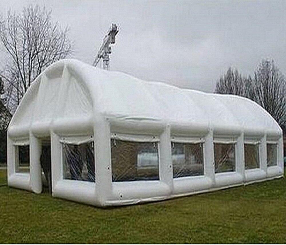 Tentes gonflables blanches adaptées aux besoins du client de tissu d'oxford pour la grande tente de camping d'exposition d'événement