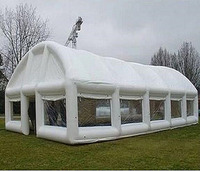 Customized Oxford Cloth White Inflatable Tent for Event Exhibition Large Camping Tent