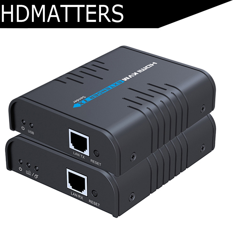 1080P HDMI KVM extender USB over IP up to 120M supports 1 TX to N RX