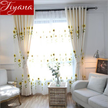 Sunflower Embroidered Voile Curtains Window Screen Yarn Modern Living Room Bedroom Curtain Cloth Shade Custom Made T&186#20