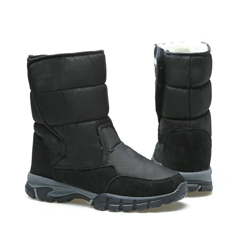 2019 Big Size Men Boots Black Winter