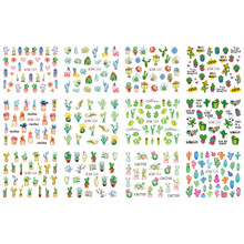 12 PACK/ LOT WATER DECAL NAIL ART NAIL STICKER MEXICO CACTUS FIESTA POTTED PLANTS BN1261-1272(China)